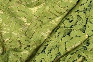 グリーンのレーススカート